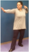 Shira Oz-Sinai demonstrating Chakra Tai Chi