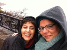Shira Oz-Sinai and mother at Niagara Falls Dec 2015