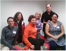 Seva Stress Release Workshop graduates with Shira Oz-Sinai